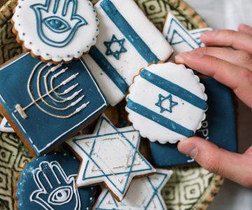 Kekse mit jüdischen Symbolen